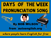 Days of the Week Pronunciation Song